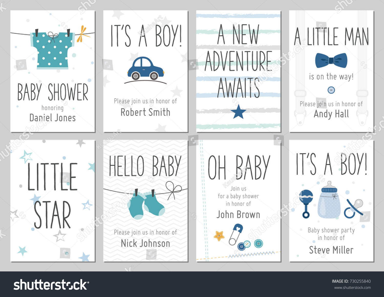 Baby shower invitations baby boy arrival stock vector royalty free baby shower invitations baby boy arrival and shower cards collection vector invitations with baby filmwisefo