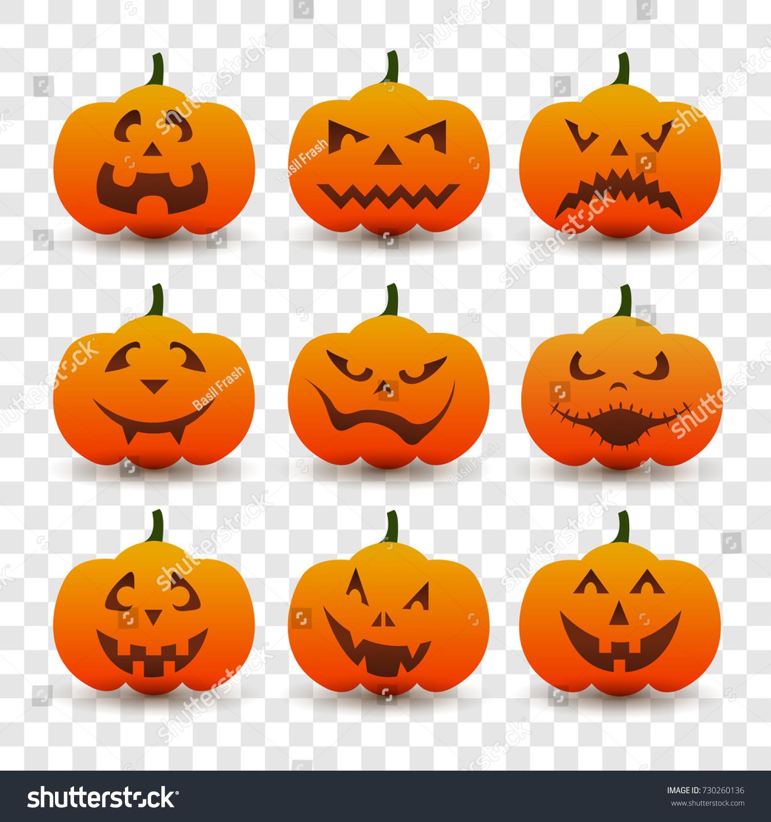 Halloween Pumpkin Vector Art.Halloween Pumpkin Vector Transparent Background Pumpkins