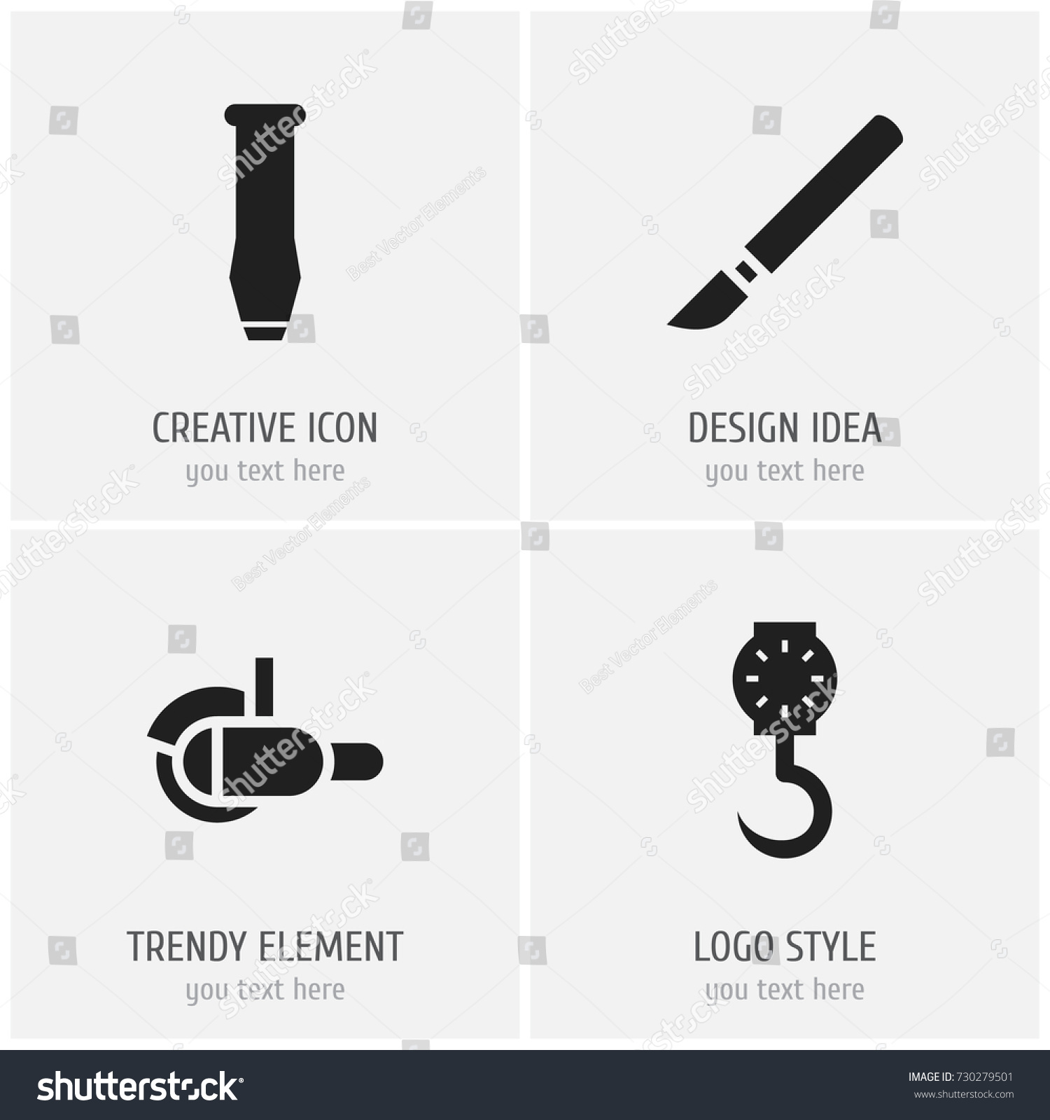 Set 4 editable equipment icons includes stock vector 730279501 set of 4 editable equipment icons includes symbols such as medical instrument bore biocorpaavc Choice Image