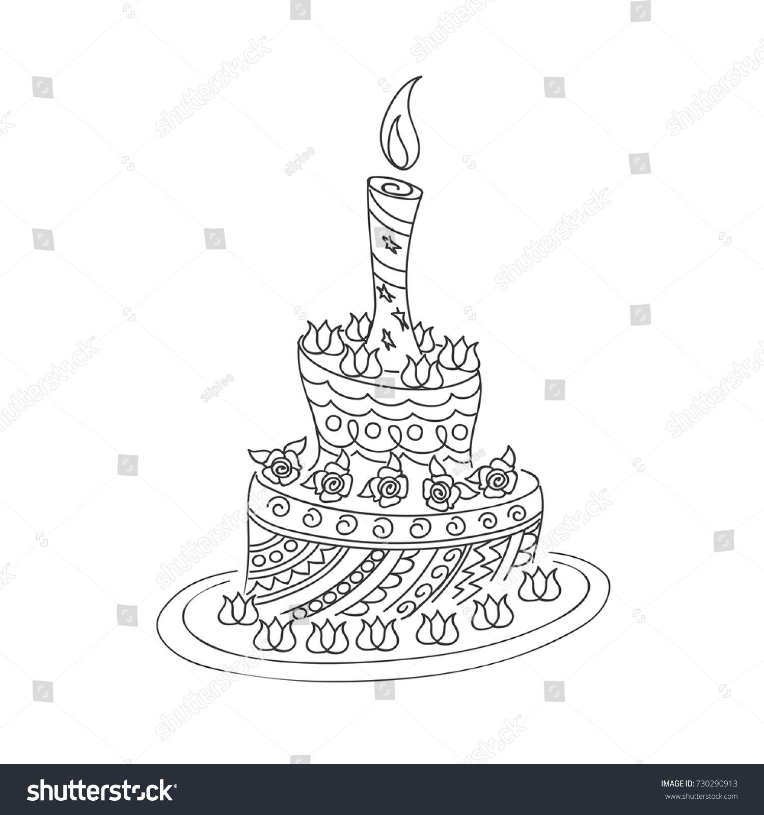 100 [ Birthday Cake Sketch ]