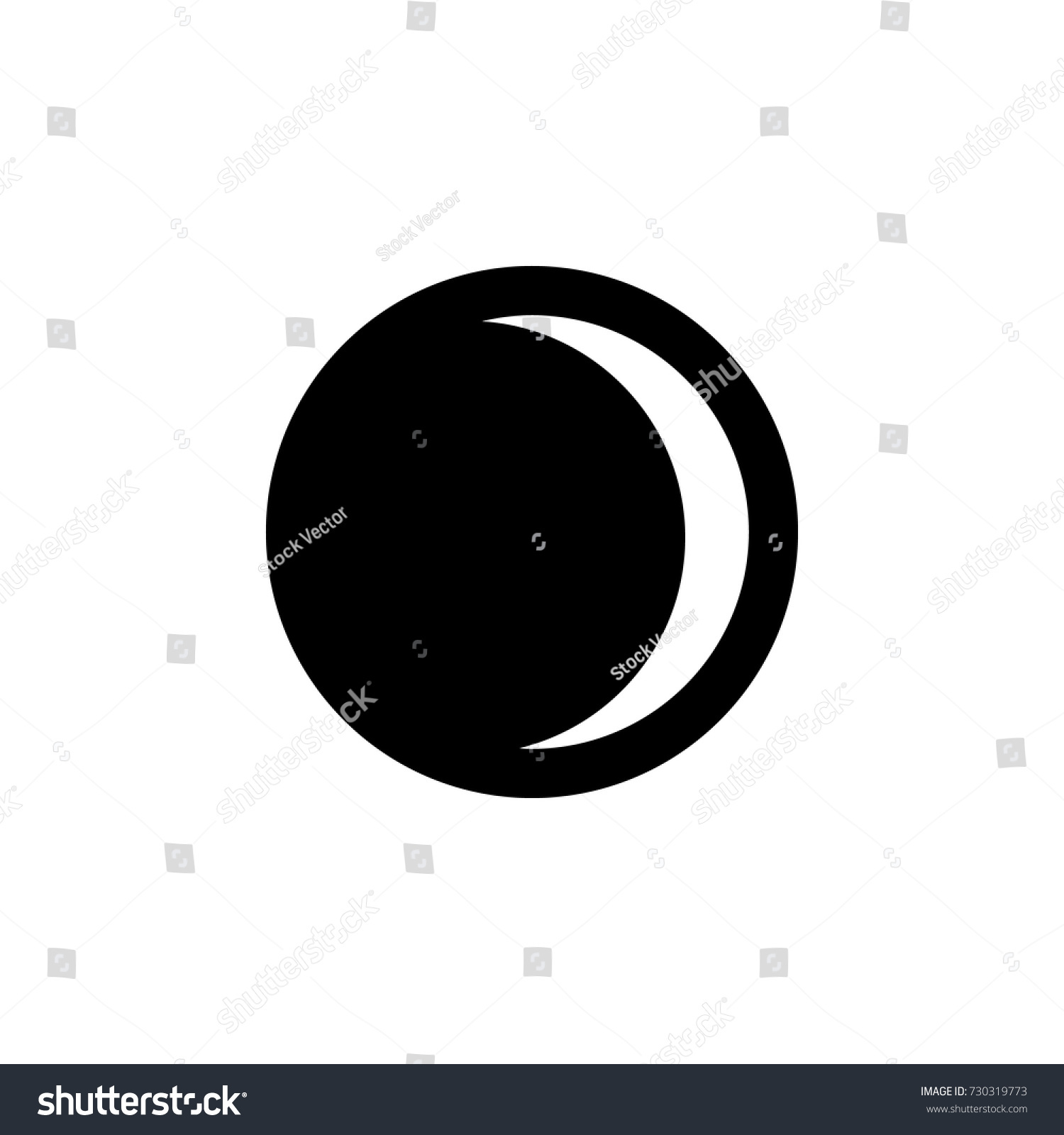 Waxing Crescent Moon Icon On White Stock Vector Hd Royalty Free
