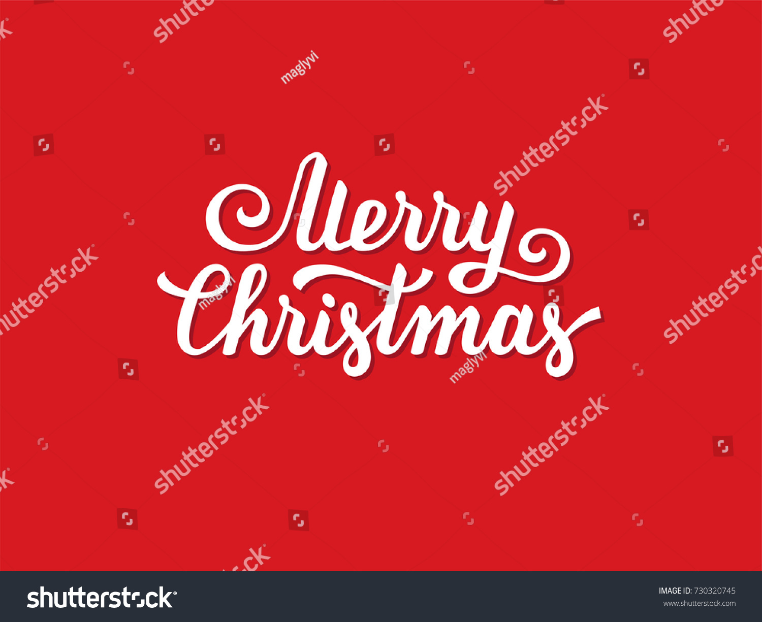 Merry Christmas Hand Drawn Text Font Stock Vector Royalty Free