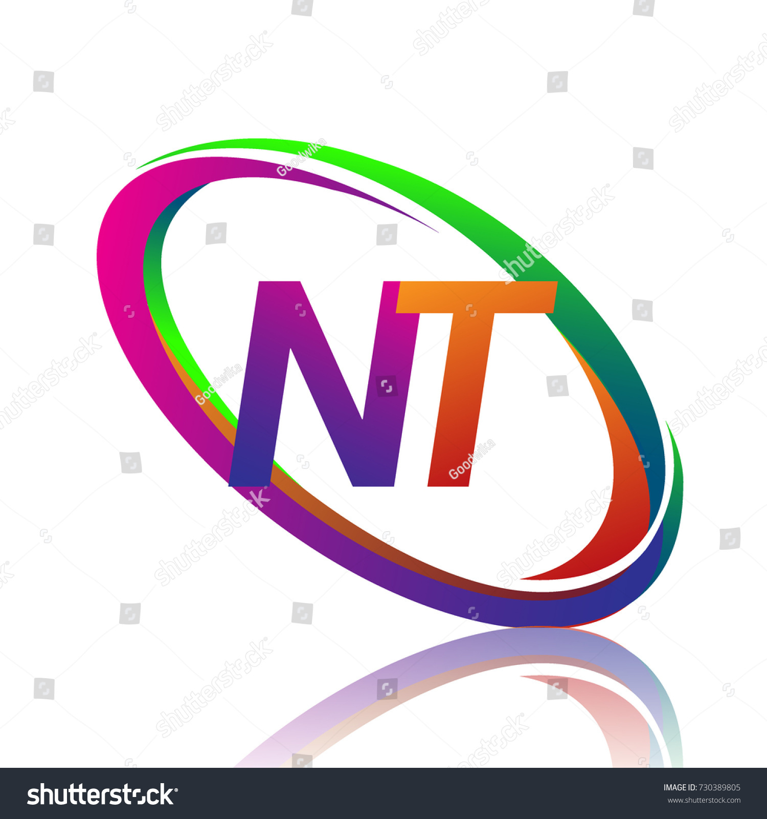 Letter Nt Logotype Design Company Name Stock Vector Royalty Free