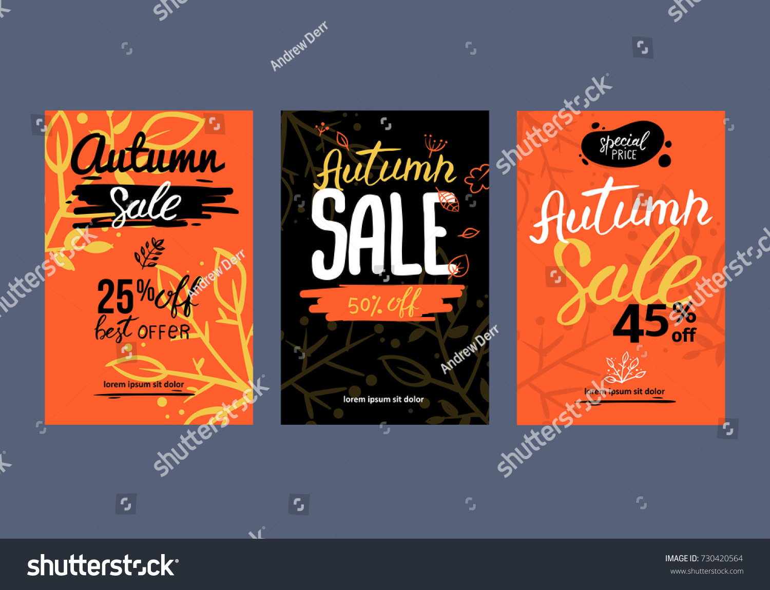 autumn sale background template poster card stock vector royalty