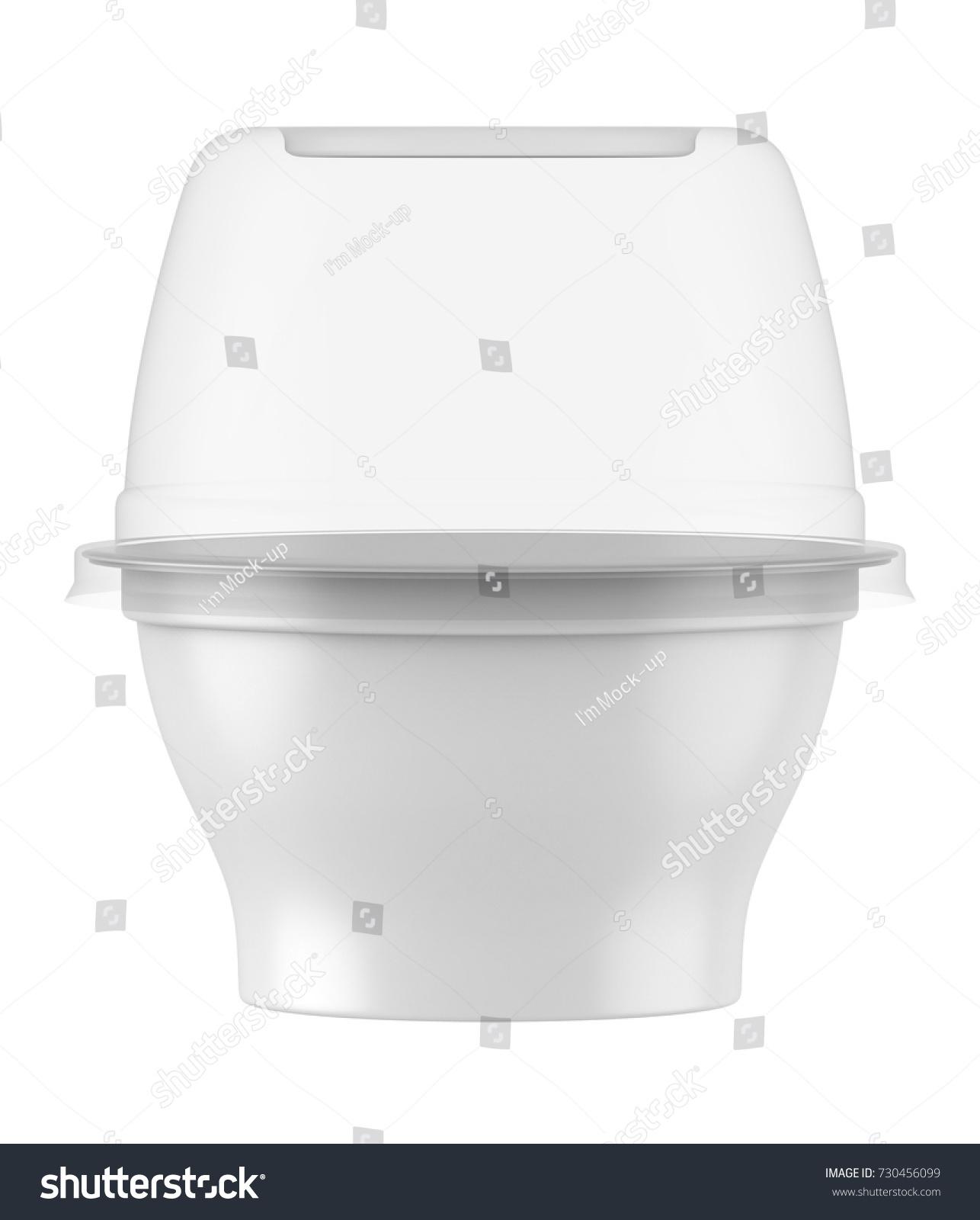 3 D Rendering Plastic Tub Clear Lid Stock Illustration 730456099 ...