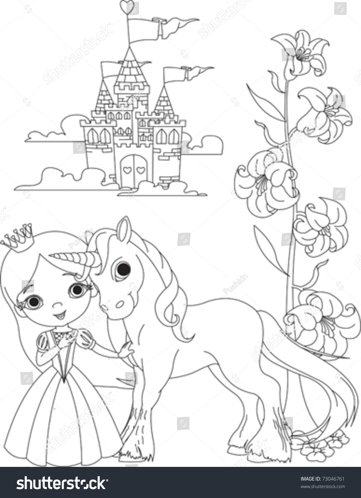 Unicorn Coloring Printable Party Favor Princess Coloring Princess And Unicorn Coloring Pages Printable