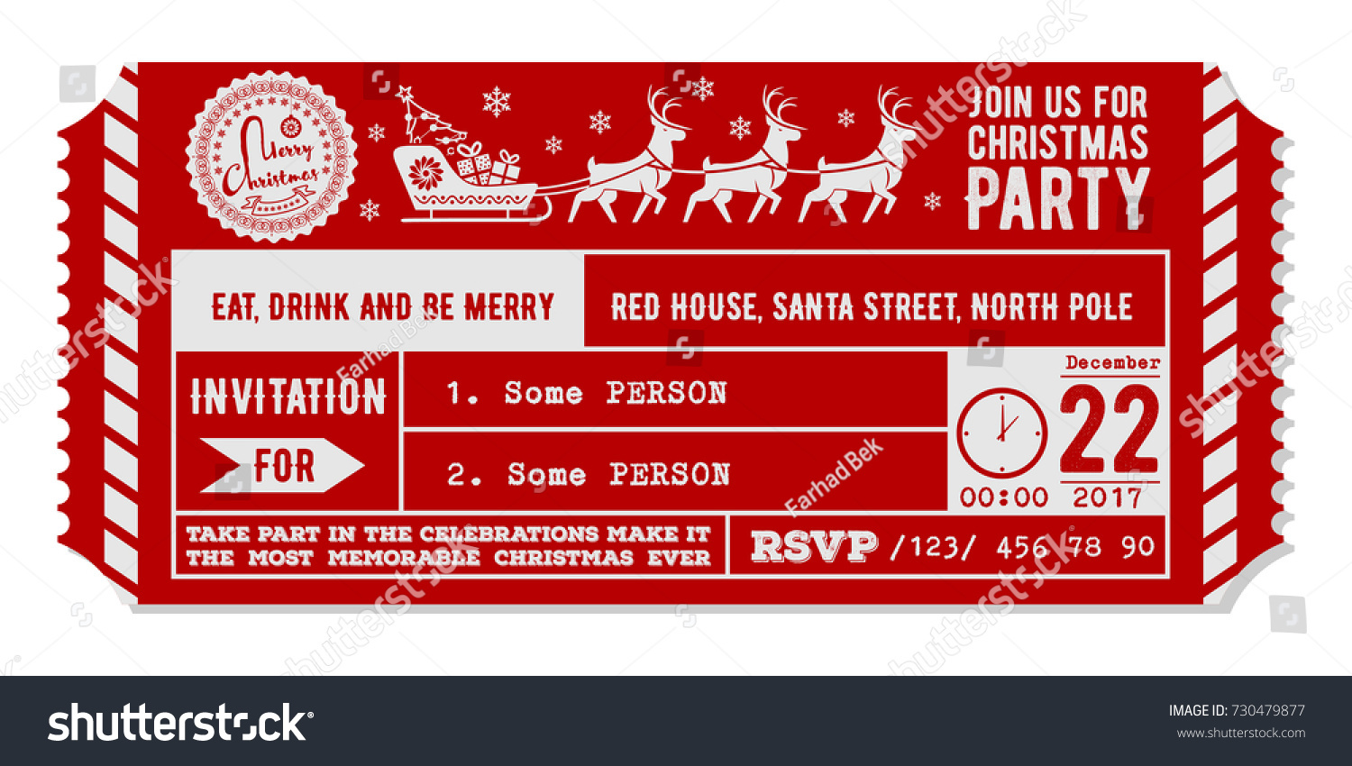 Vintage Christmas Party Invitations Gallery - Party Invitations Ideas