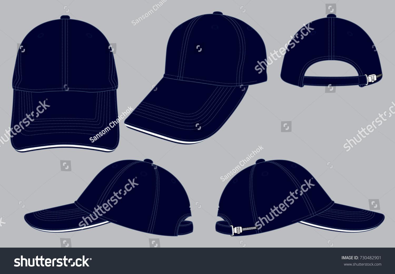navy blue baseball cap template のベクター画像素材 ロイヤリティ