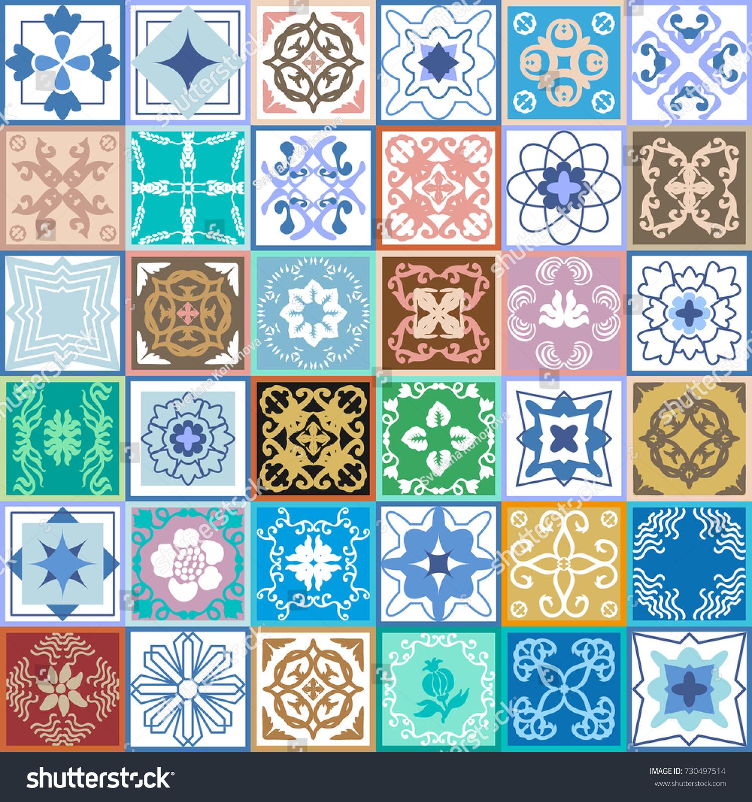 Elegant vintage ceramic tiles glazed ceramic stock vector elegant vintage ceramic tiles glazed ceramic mosaic with moroccan spanish and portuguese motifs dailygadgetfo Gallery
