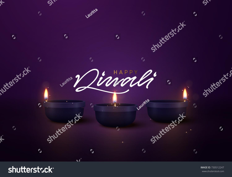 Celebrate Diwali Festival Lights Holiday Background Stock
