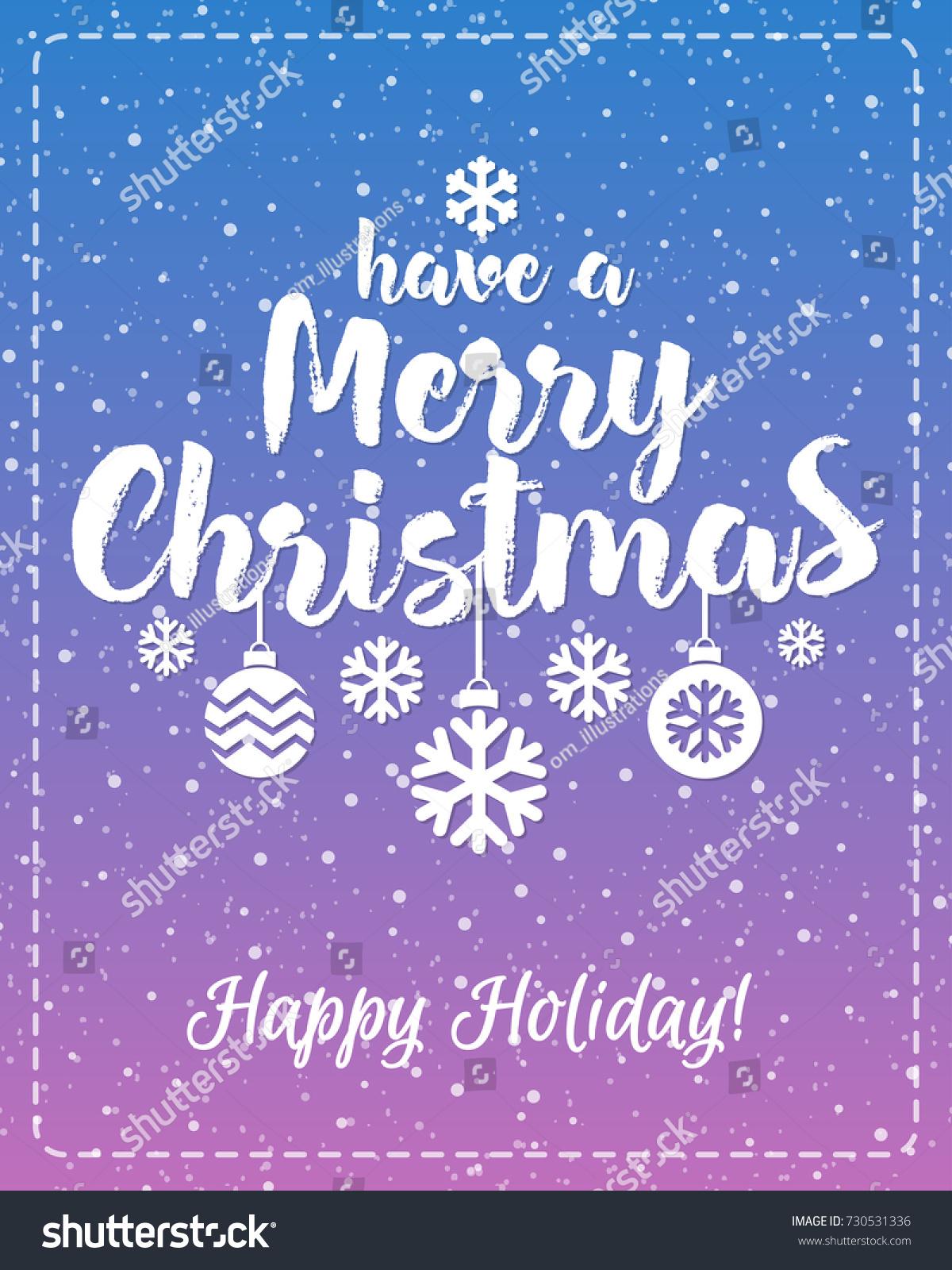 Christmas Greeting Card White Emblem Consisting Stock Illustration