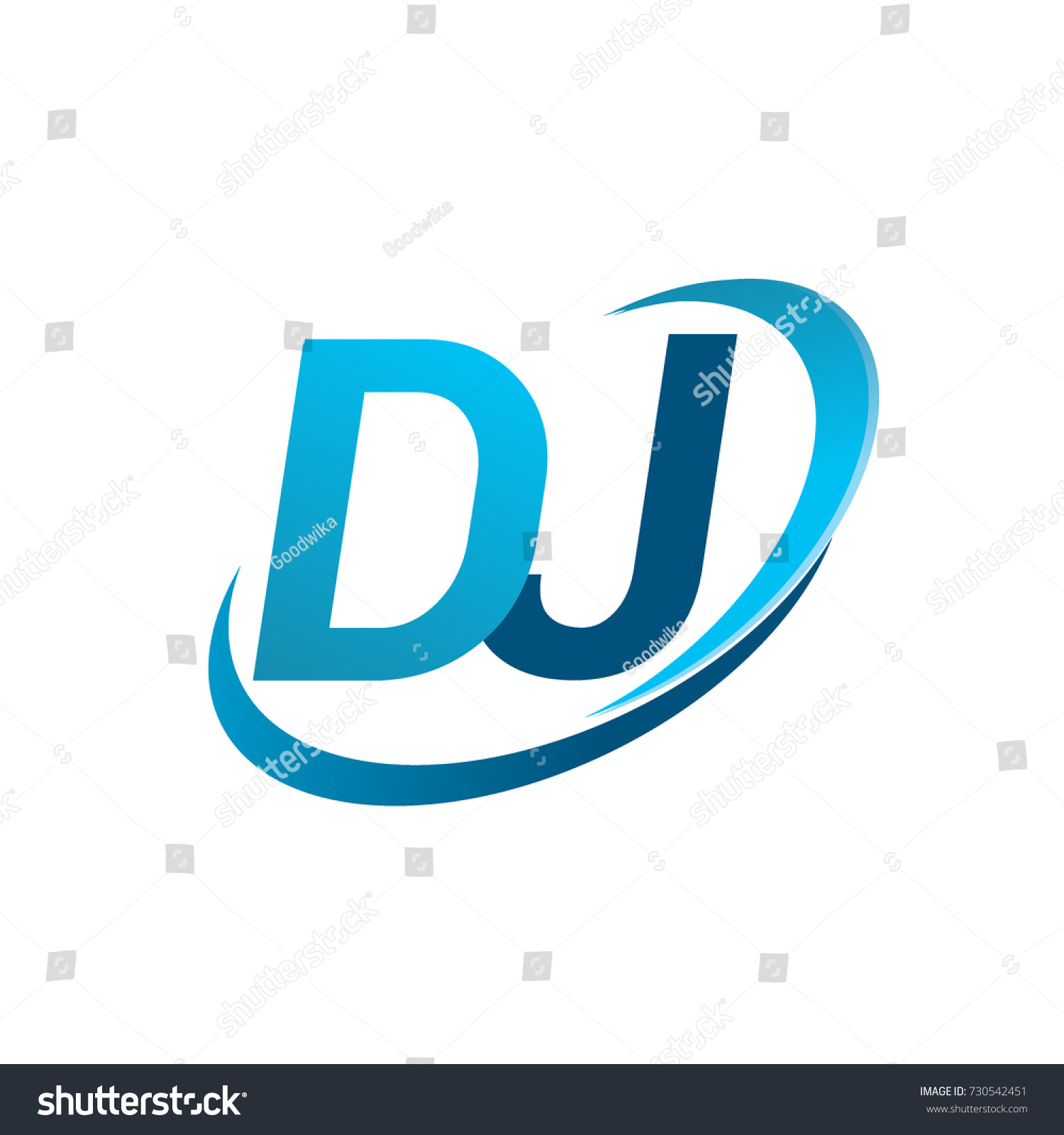 Initial Letter Dj Logotype Company Name Stock Vector 730542451 ...
