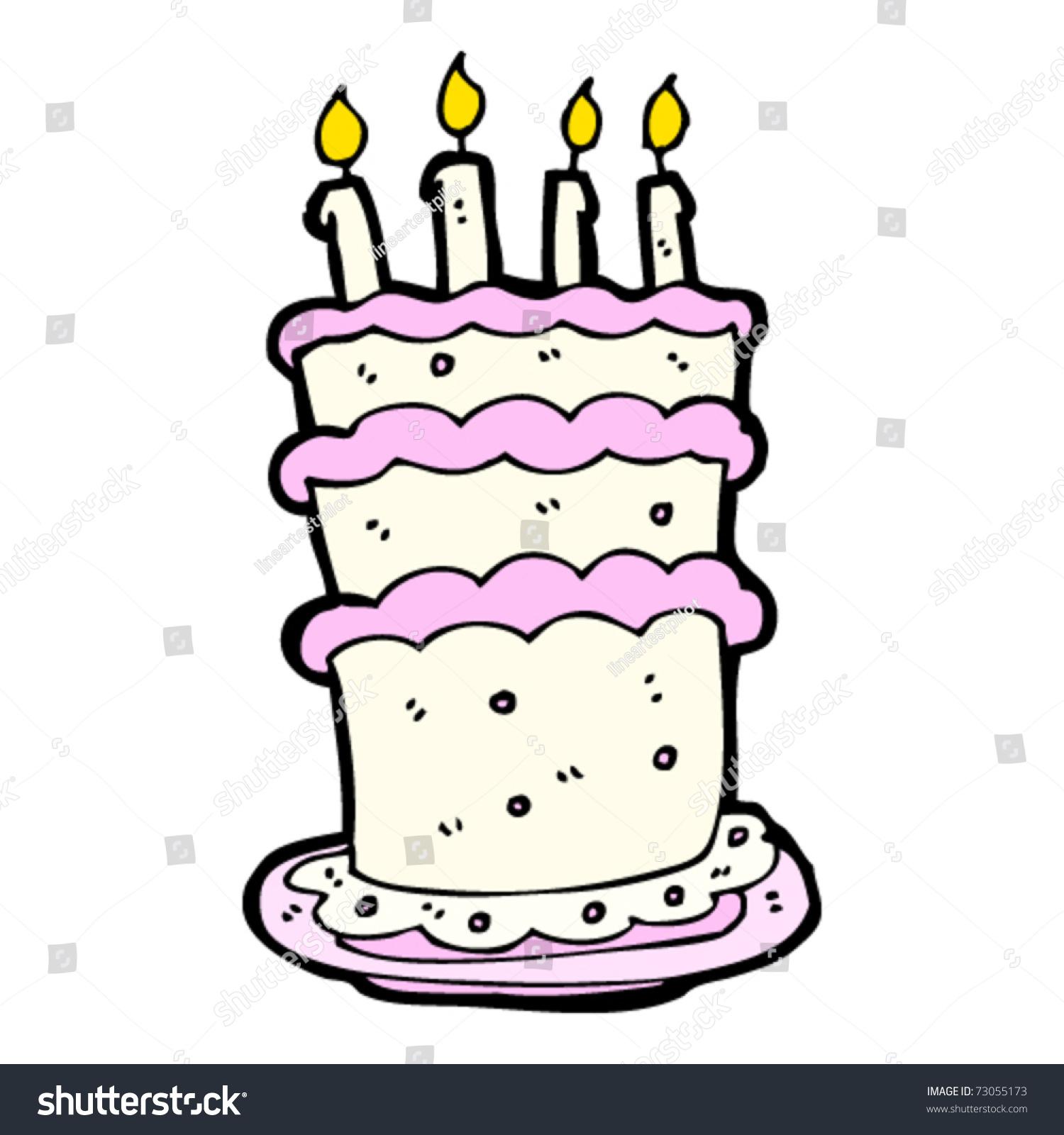 Huge Birthday Cake Cartoon Stock Vector Illustration 73055173 ...