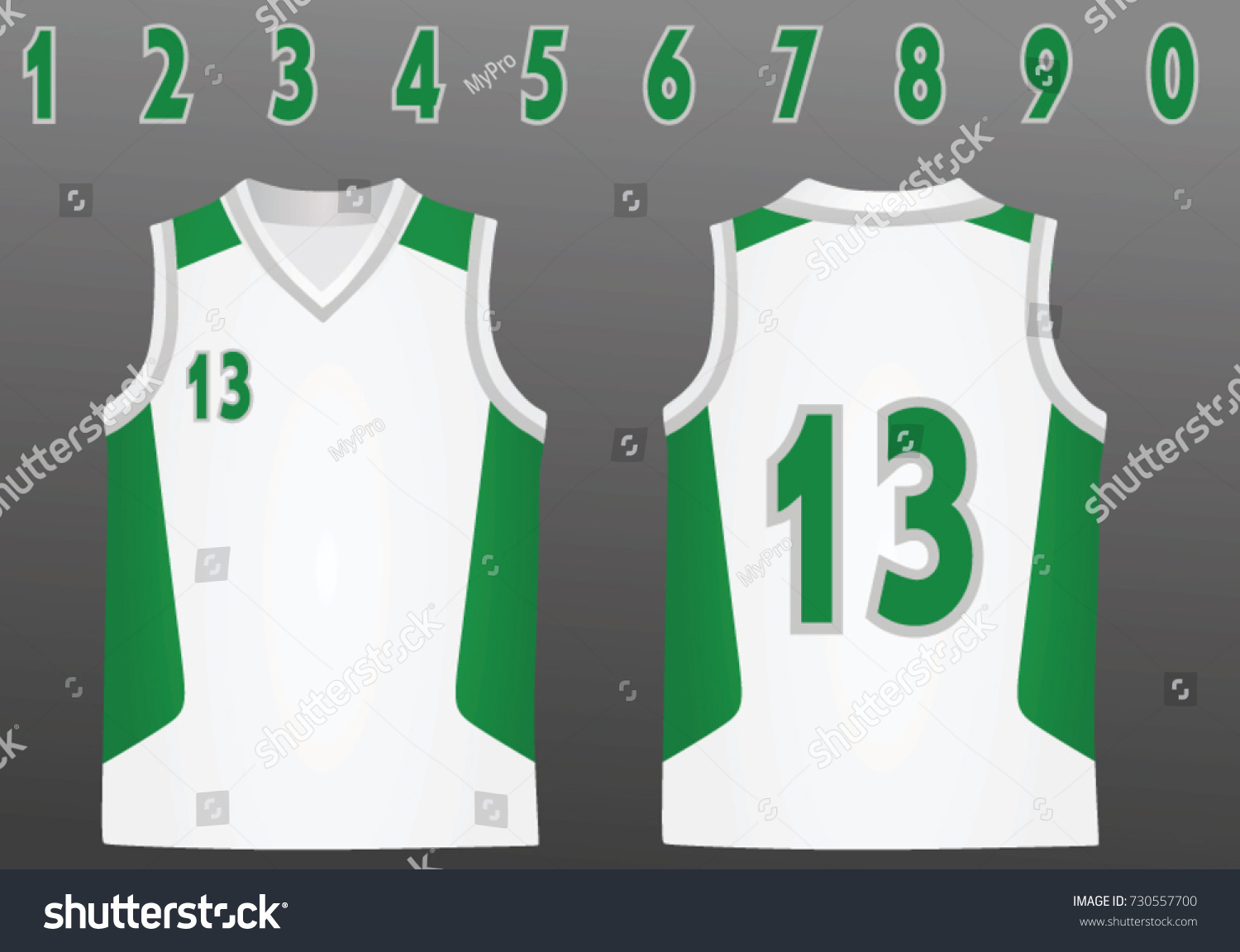 5ad3655738c3 Basketball Jersey Vector Illustration Stock Vector (Royalty Free ...