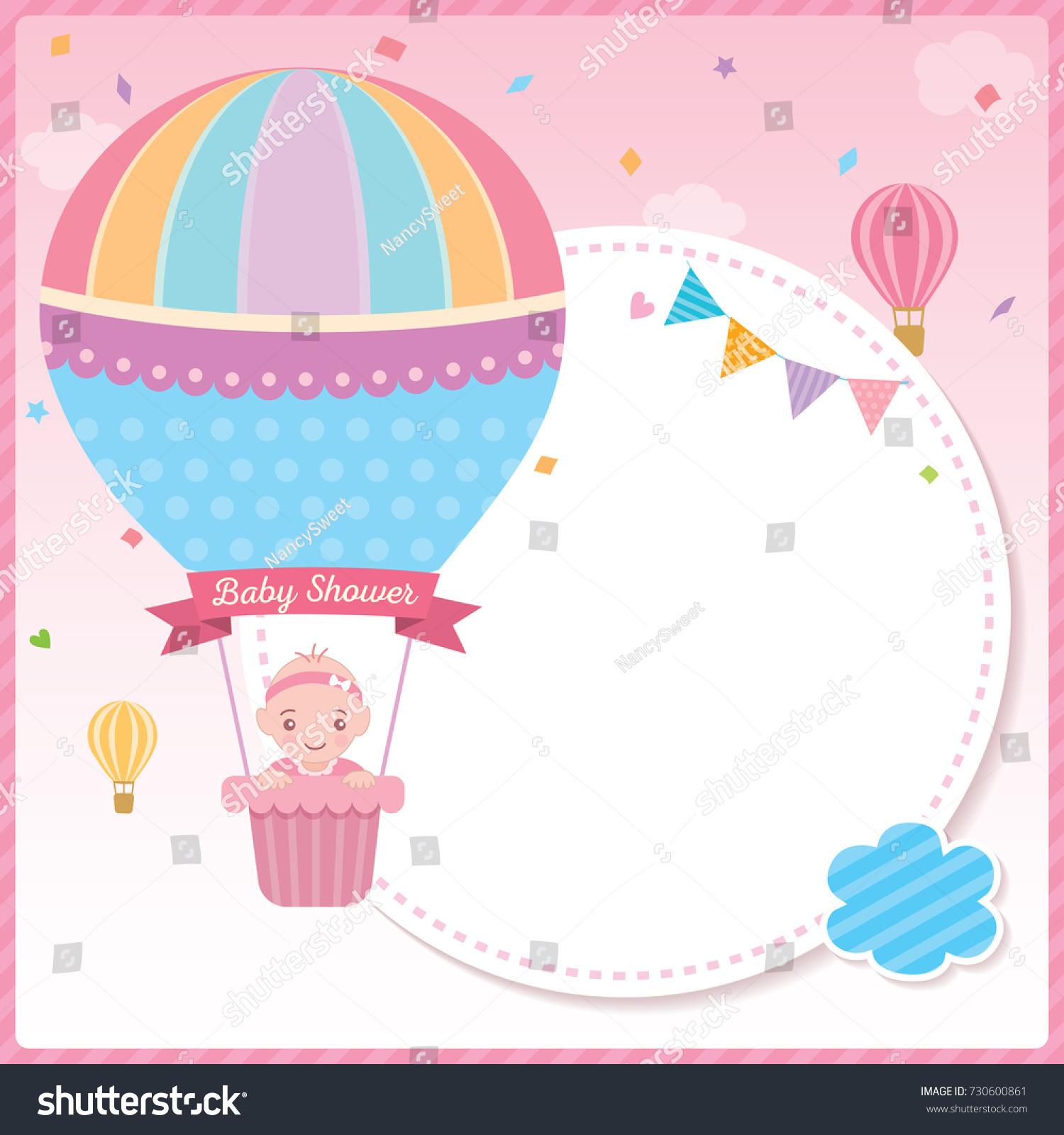 baby shower card newborn design baby のベクター画像素材