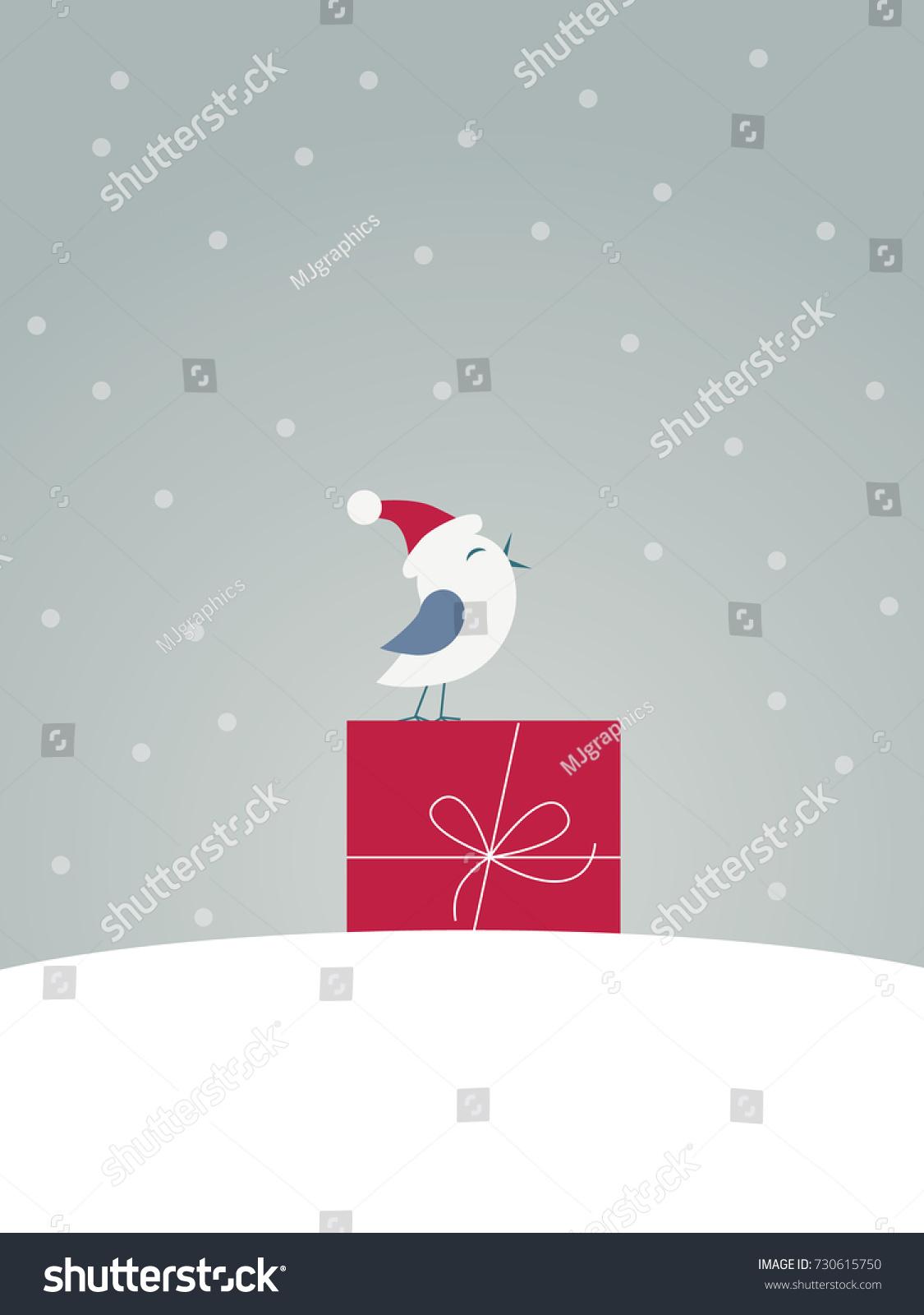 Merry Christmas Card Vector Template Funny Stock Vector 730615750    Shutterstock