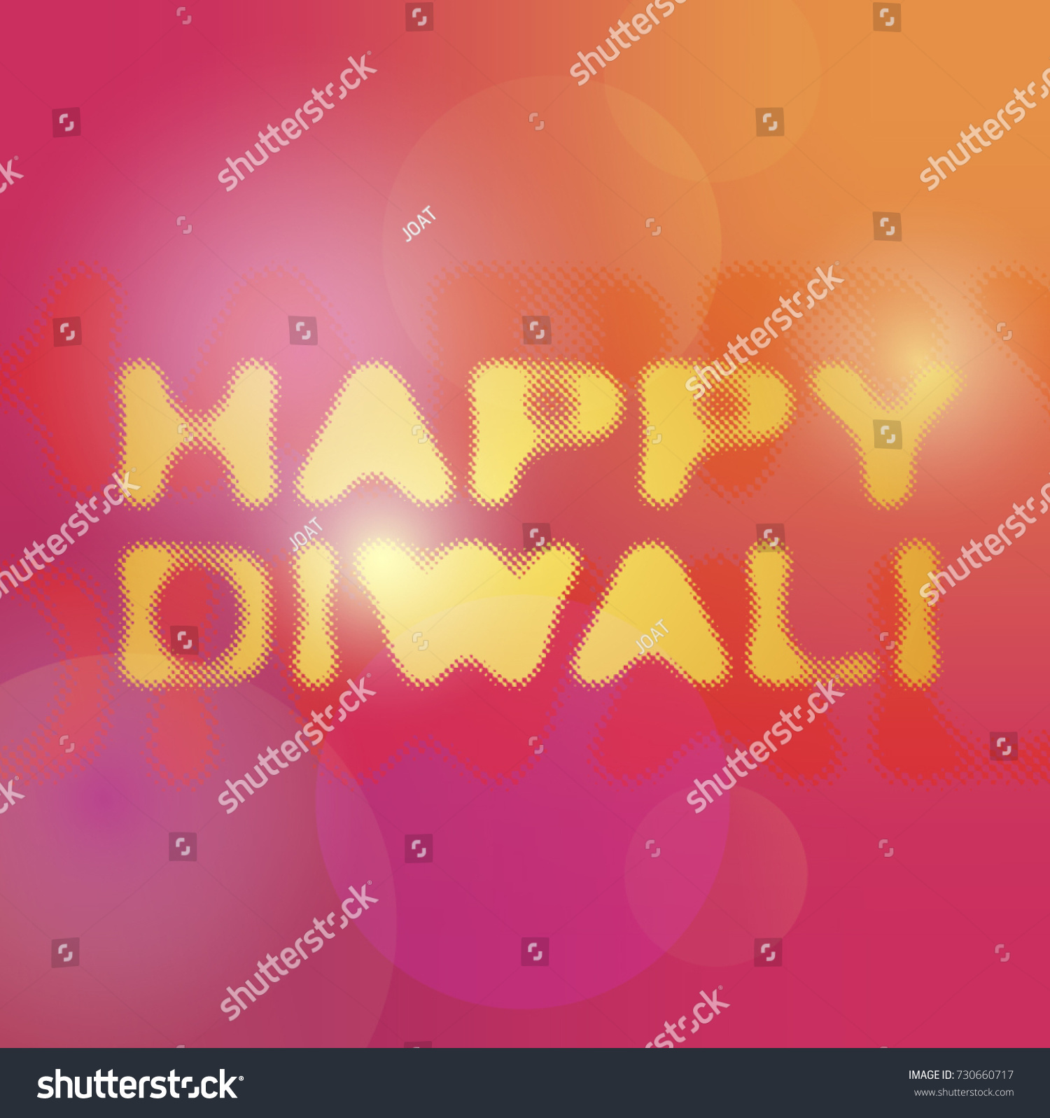 Happy Diwali Decorative Greeting Title Text Stock Vector Royalty