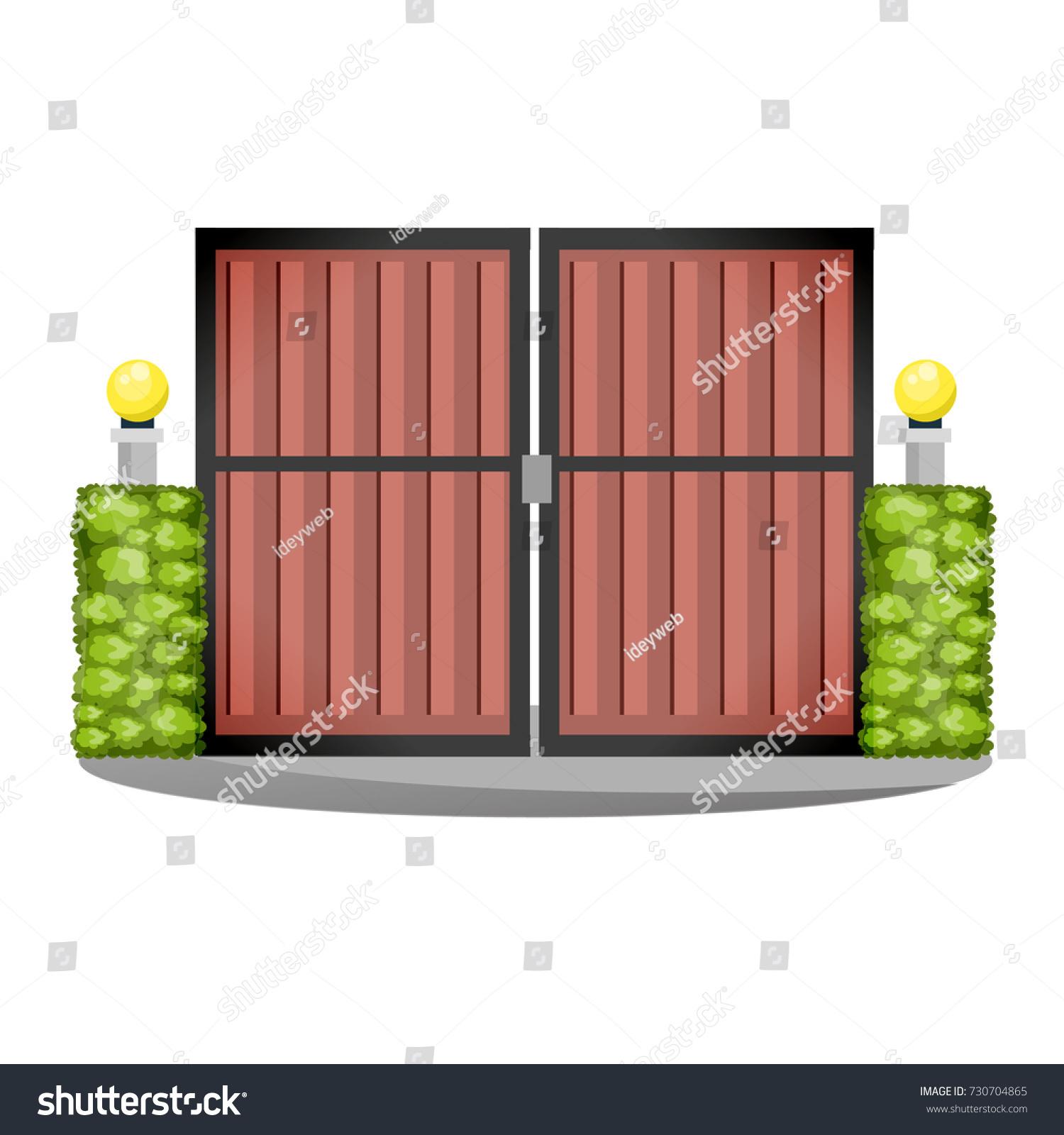 Decorative Stone Metal Fences Exterior Appearance Stock