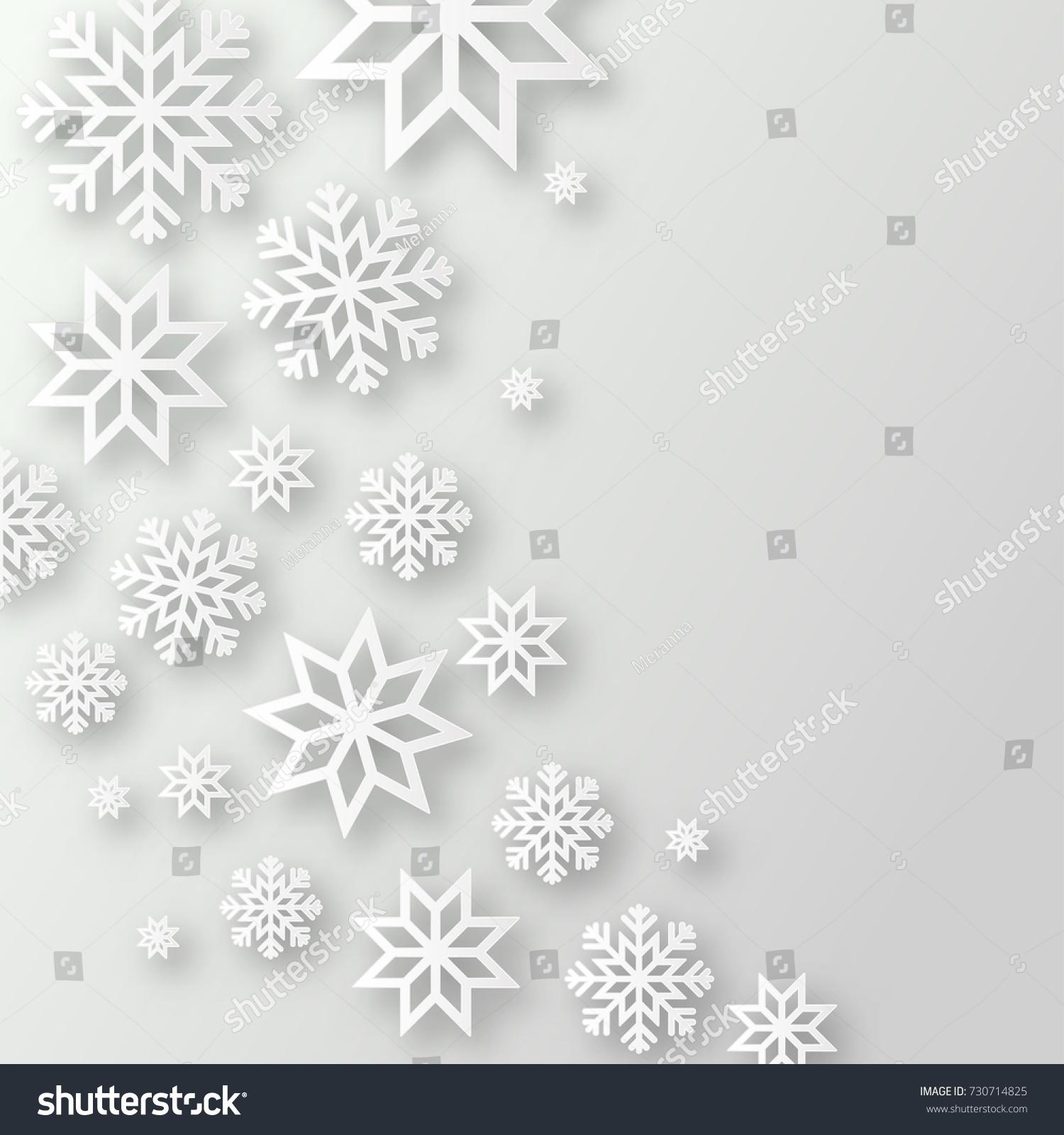 Vector Illustration Abstract Christmas Background Volumetric Stock
