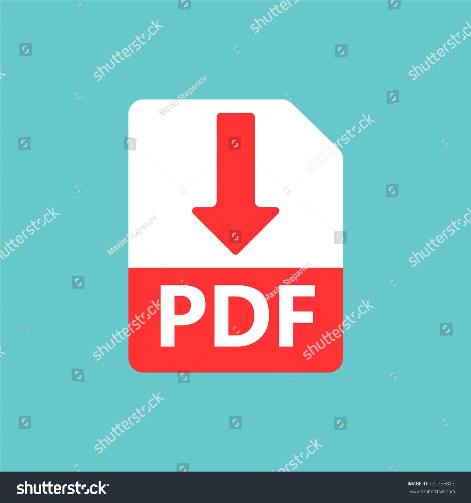 PDF Vector Icon Download File Sign Vector de stock730756813 ...
