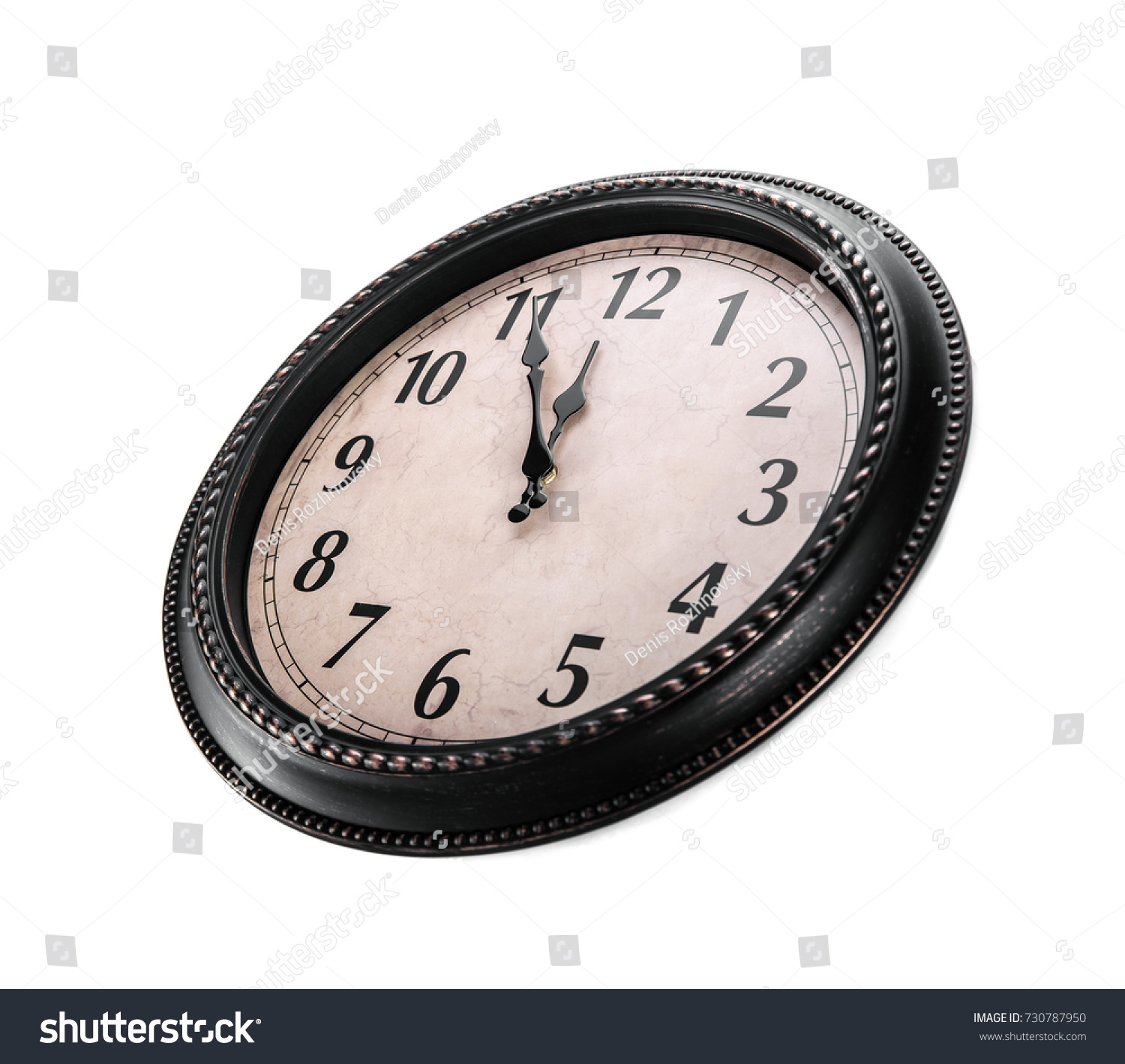 Ancient Wall Clock On White Background Stock Photo Edit Now