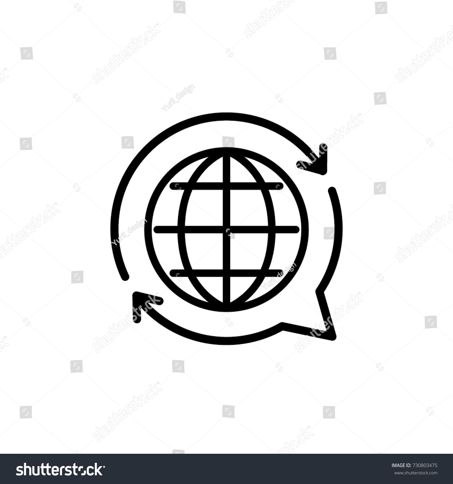 translate icon vector