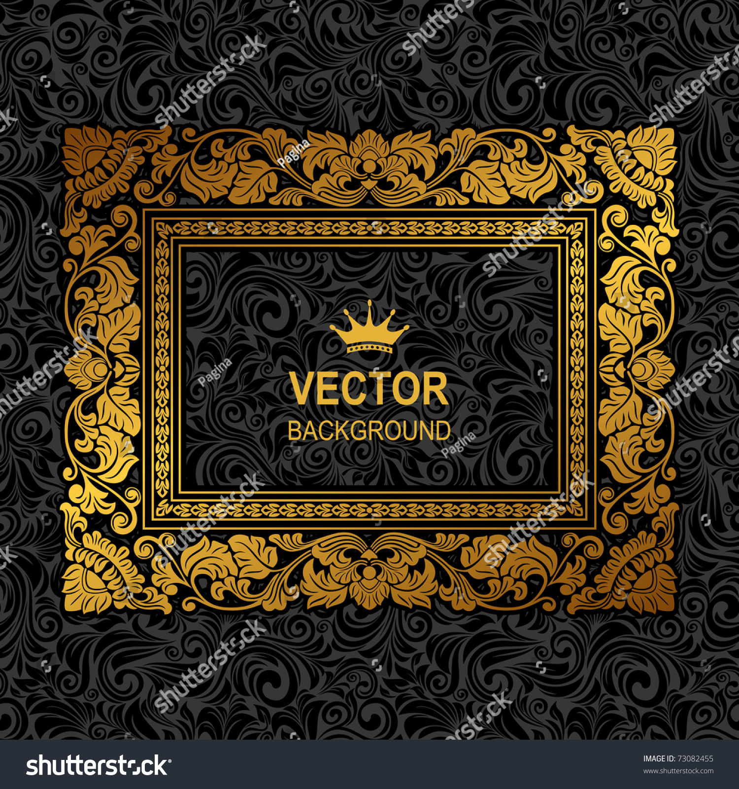 Royal Gold Picture Frame On Dark 73082455