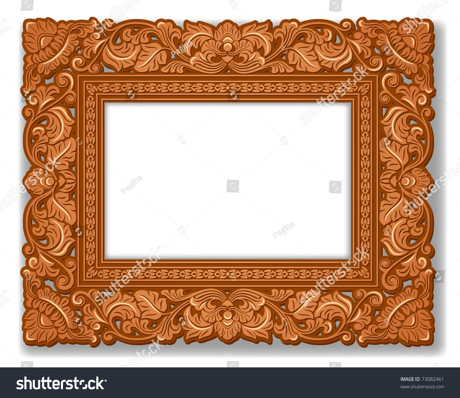 Royal picture frame carved wood stock vector 73082461 shutterstock royal picture frame carved wood jeuxipadfo Image collections