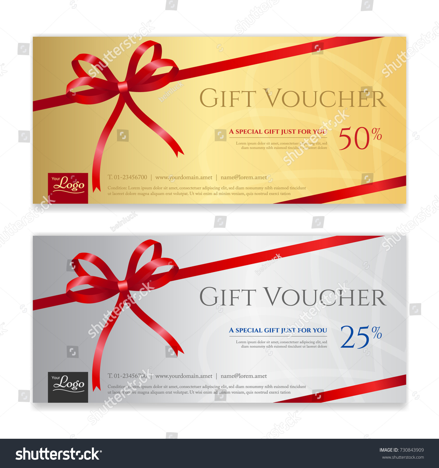 Gift voucher certificate discount card template stock vector gift voucher certificate or discount card template for promo compliment xflitez Choice Image
