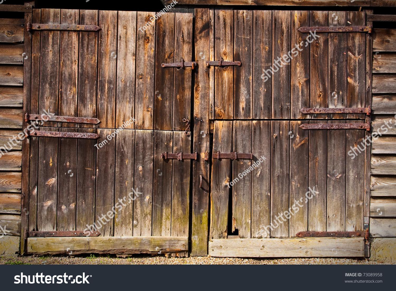 Old Wooden Barn Door Stock Photo 73089958 Shutterstock