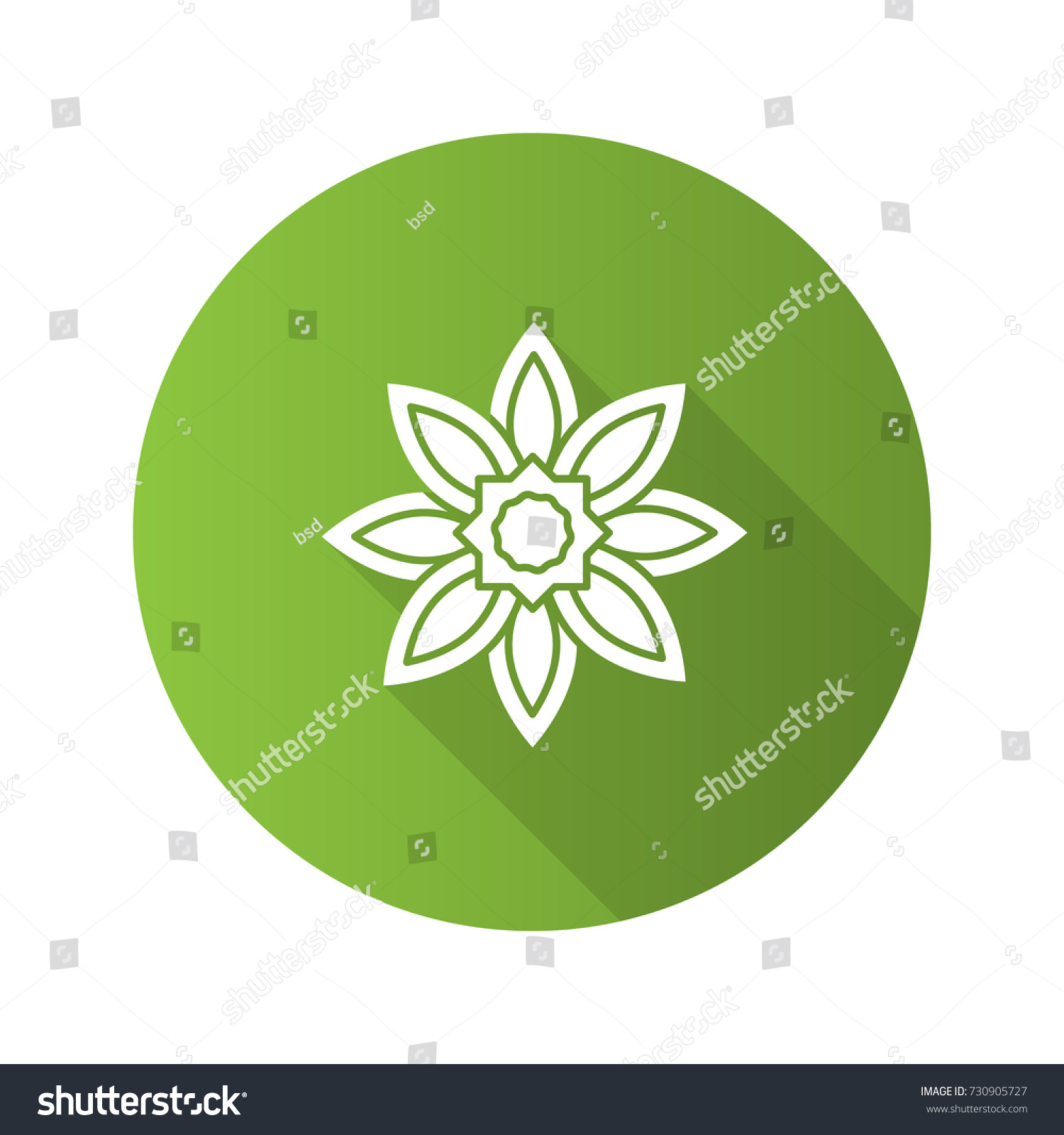 Islamic Star Flat Design Long Shadow Stock Vector Royalty Free