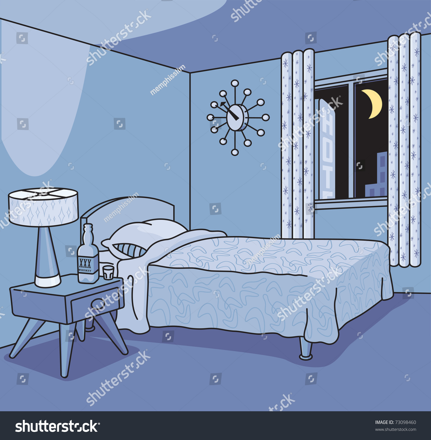 Bed Clip Art Single