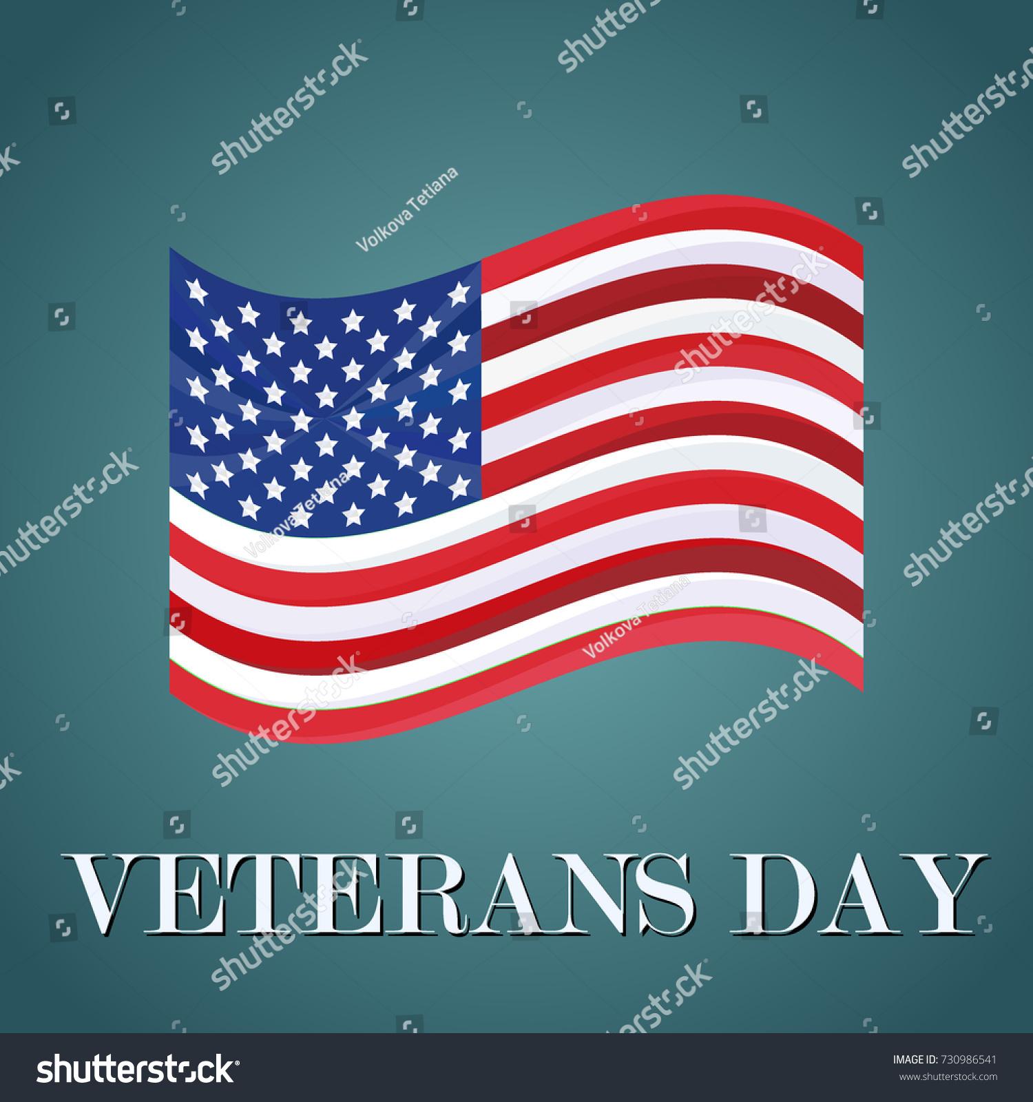 Vector Veterans Day Greeting Invitation Card Stock Vector Royalty