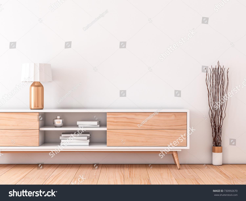 Modern interior wall mockup modern bureau stock illustration