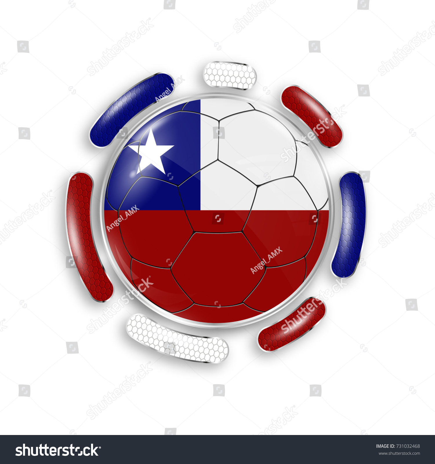 Soccer ball national flag chile modern stock vector 731032468 soccer ball with the national flag of chile modern emblem of soccer team realistic biocorpaavc Images
