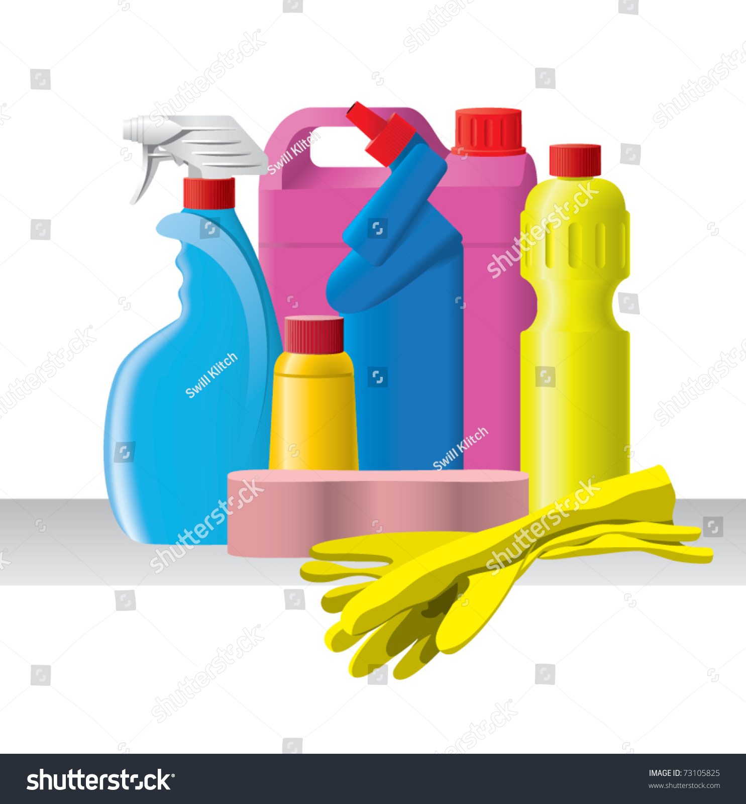 Cleaning bottles clip art - photo#28