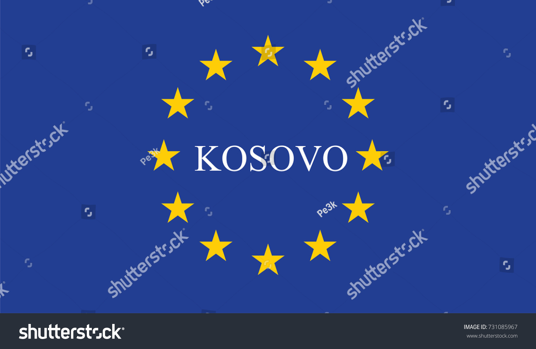 Candidate European Union Kosovo Stock Vector Royalty Free