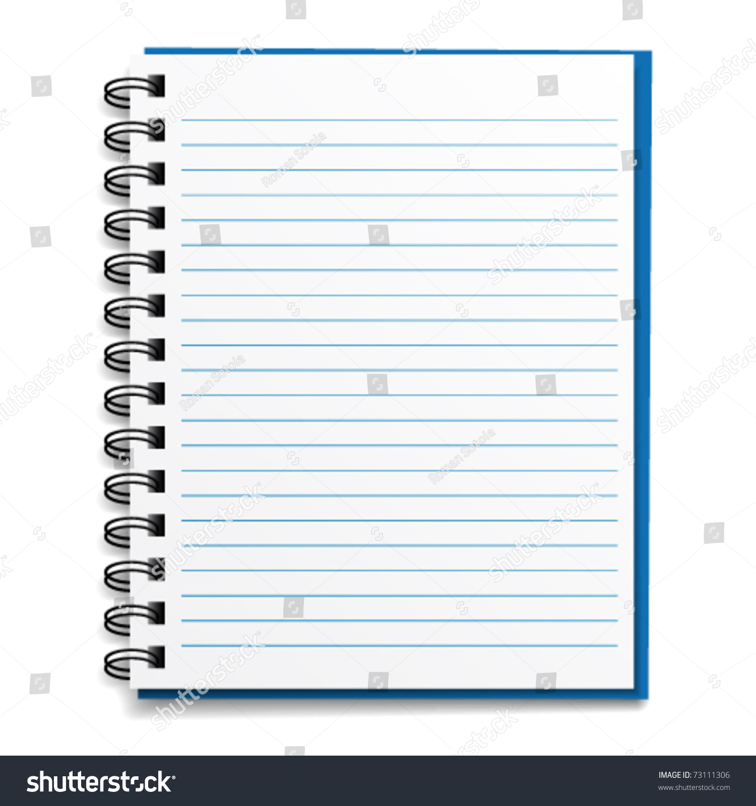 Vector Blank Lined Notebook Vector 73111306 Shutterstock – Lined Notebook Paper Template