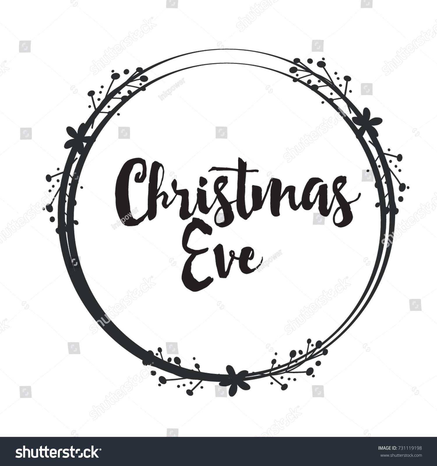 Christmas Word Art Design Floral Circle Stock Vector (Royalty Free ...
