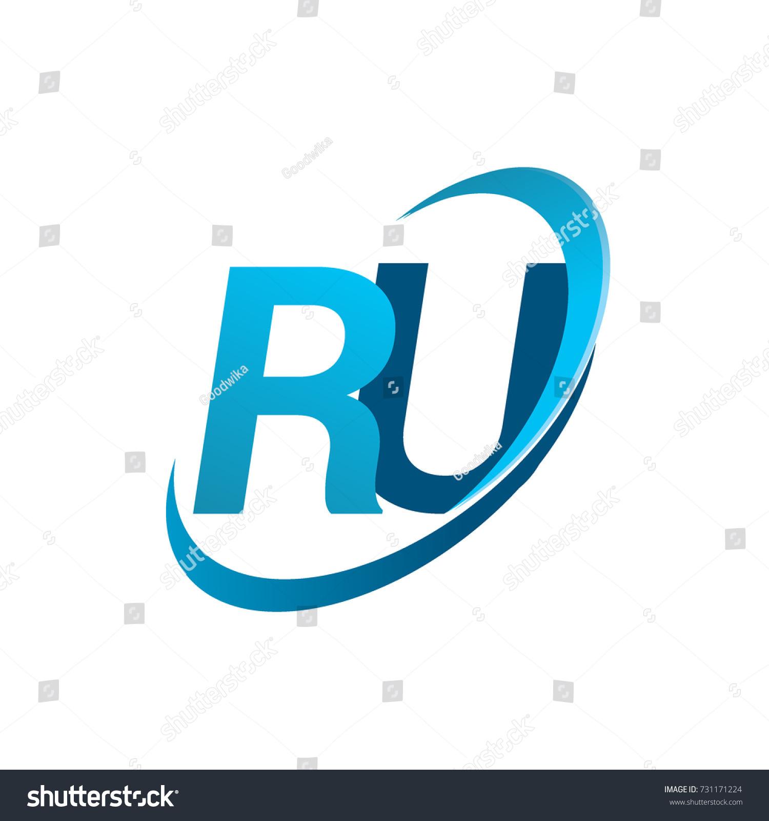initial letter ru logotype company name stock vector 731171224 rh shutterstock com
