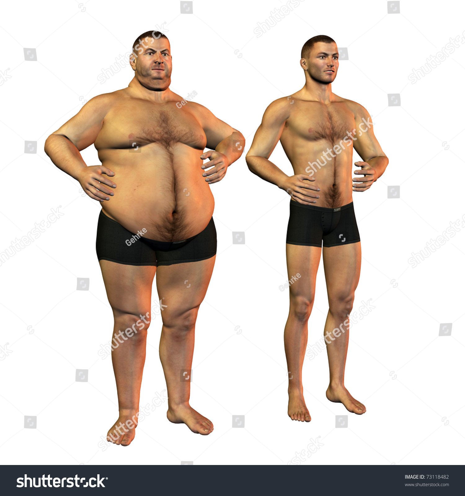 weight loss before and after man