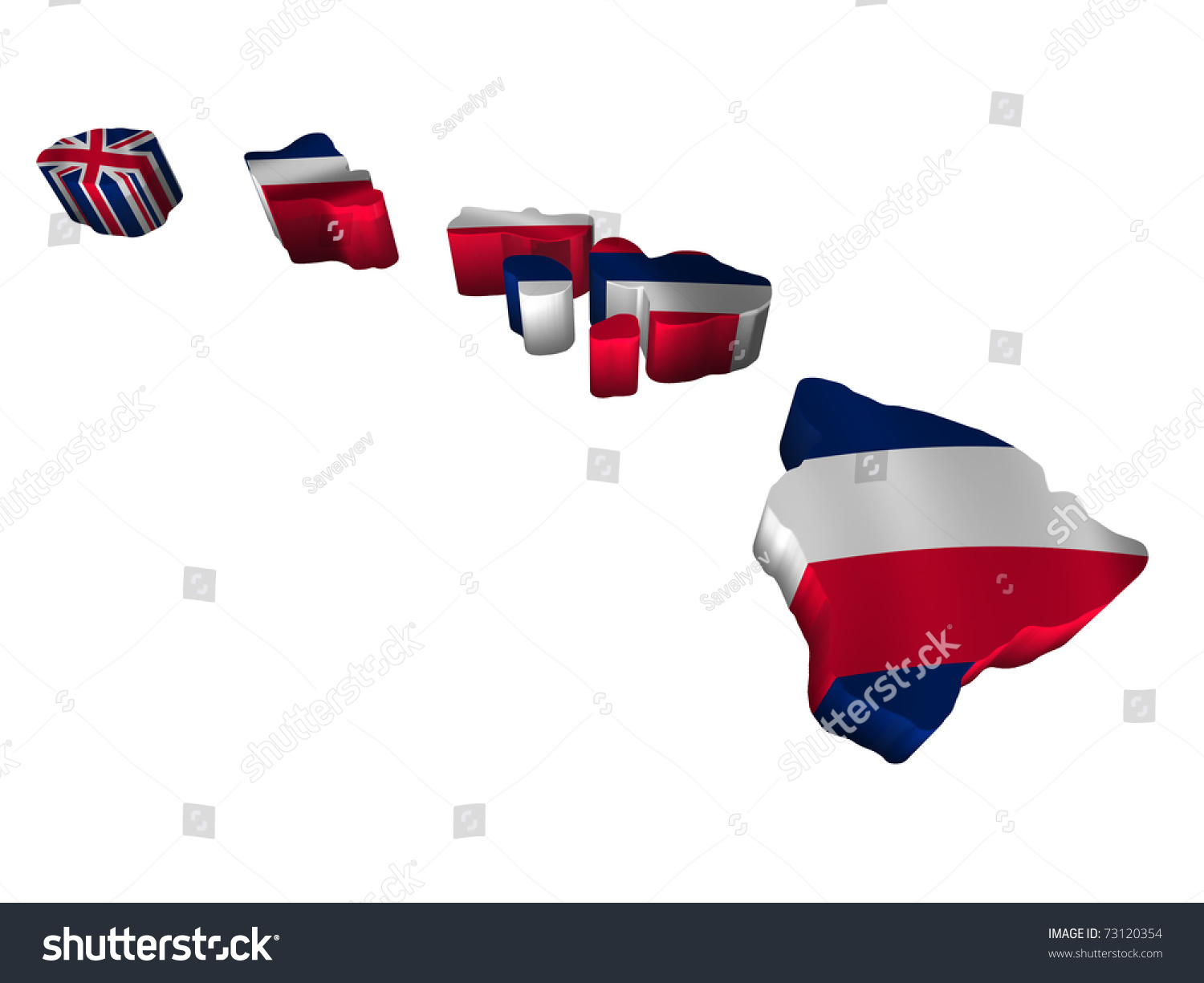 Flag Map Hawaii Stock Illustration 73120354 - Shutterstock