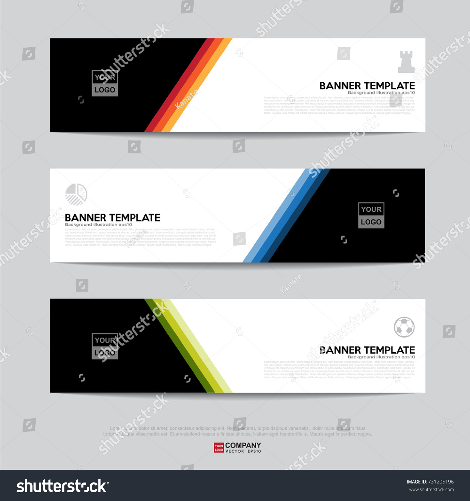design flyers banners brochures cards template banner stock vector