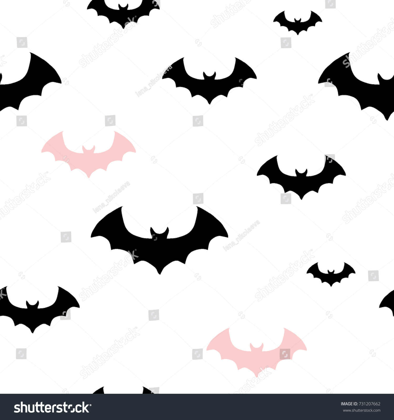 Amazing Wallpaper Halloween Pink - stock-vector-halloween-pattern-with-black-and-pink-bats-texture-for-wallpaper-pattern-fills-web-page-731207662  Graphic_182652.jpg
