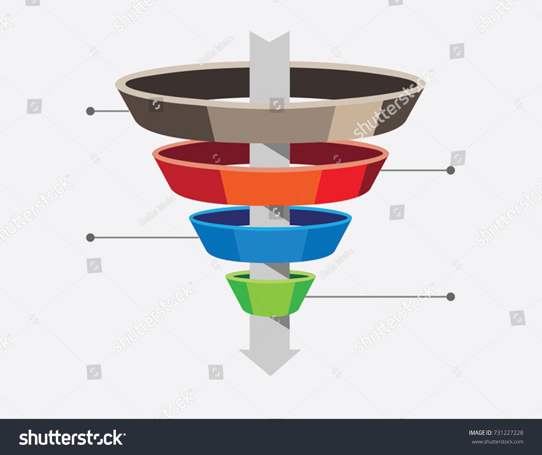Marketing funnel diagram graphic presentation stock vector marketing funnel diagram graphic for presentation pooptronica Images