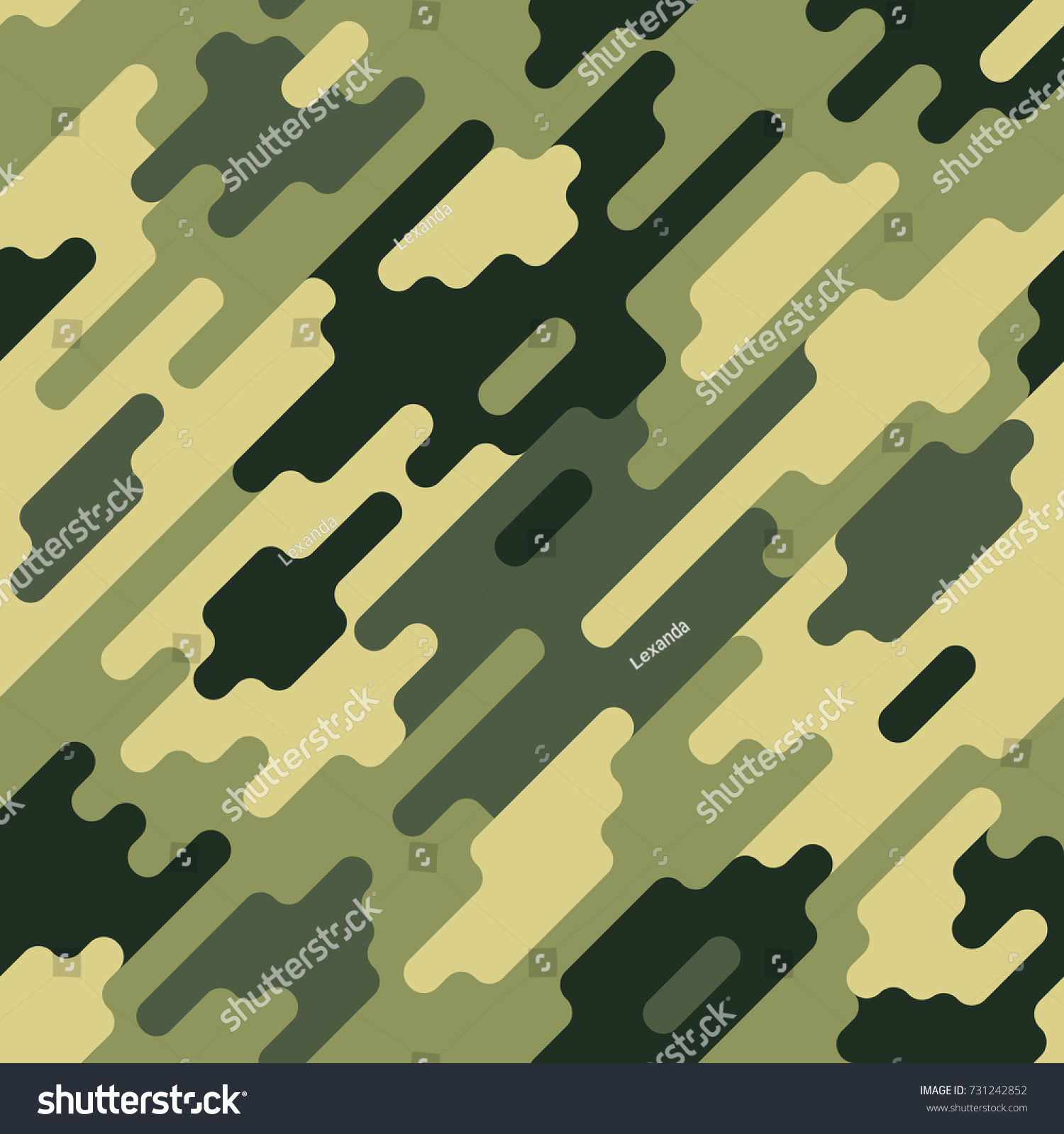 Camouflage Modern Colorful Seamless Pattern Green Stock Vector ...