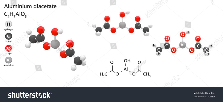 Aluminium Diacetate Acetate White Powder Chemical Stock Illustration