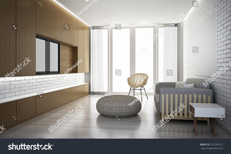 Interior Design Lounge Living Room White Stock Illustration ...