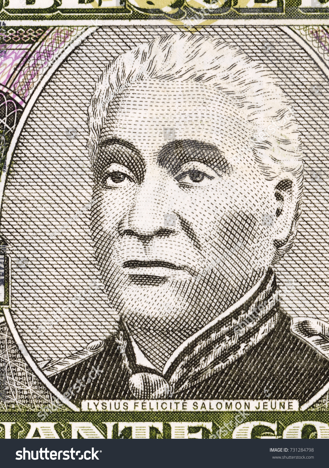 Lysius Salomon Portrait Haitian Money Stock Photo (Edit Now