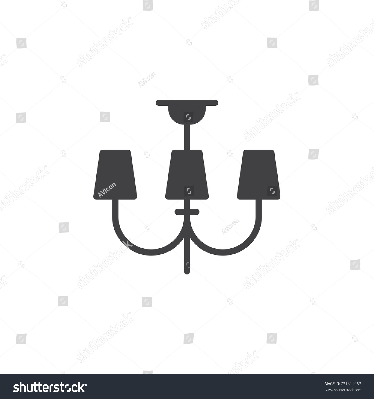 Chandeliers lights icon vector filled flat stock vector 731311963 chandeliers lights icon vector filled flat sign solid pictogram isolated on white ceiling arubaitofo Images
